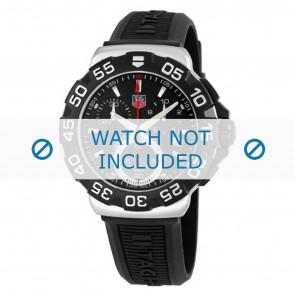 Correa de reloj Tag Heuer BT0714 Caucho Negro 20mm