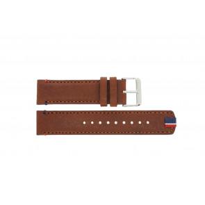 Tommy Hilfiger correa de reloj TH-248-1-14-1685 / TH679301739 Cuero Marrón + costura marrón