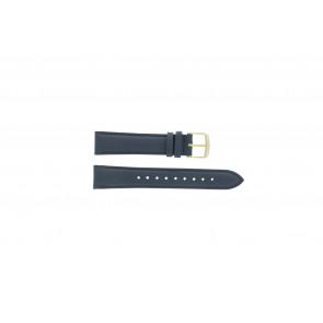 Timex correa de reloj PW2P63400 Piel Azul oscuro 18mm