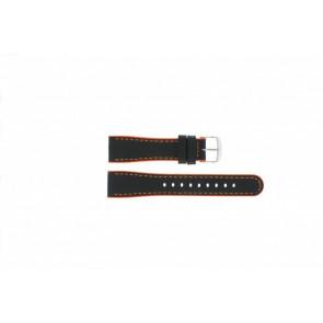 Timex correa de reloj T2N428 Piel Negro 22mm