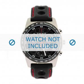 Tissot correa de reloj J378-478 PR-50 - T600020323 Cuero Negro 19mm + costura roja