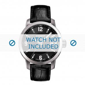 Tissot correa de reloj T055.417.A PRC 200 - T610032709  Piel de cocodrilo Negro 19mm