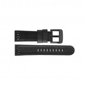 TW Steel correa de reloj TWB46L Cuero Negro 22mm + costura negro