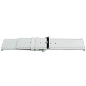 Correa de reloj Universal K505 Cuero Blanco 28mm