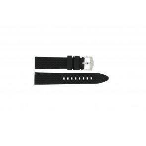 Correa de reloj Universal 5809.01 Silicona Negro 20mm