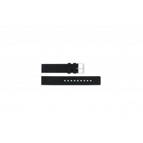 Correa de reloj Universal 6826.20 / 21901.10.20 Caucho Negro 20mm