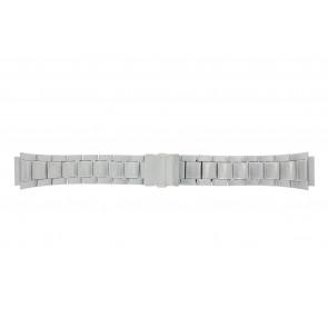 Casio correa de reloj WV-58DE-1AVEF / 10243173 Metal Plateado 23mm
