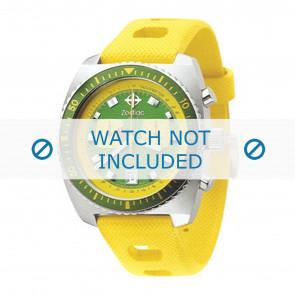 Zodiac silicona Correa de reloj amarillo ZO-2241
